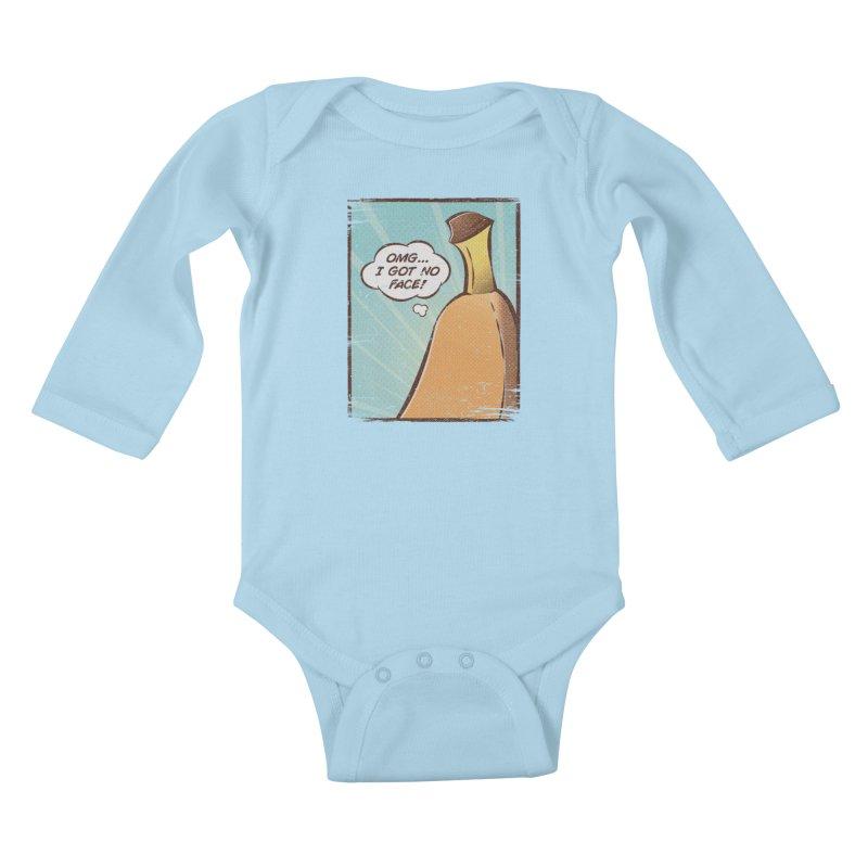 OMG... I GOT NO FACE! Kids Baby Longsleeve Bodysuit by Beanepod