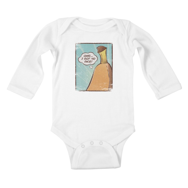 OMG... I GOT NO FACE! Kids Baby Longsleeve Bodysuit by Beanepod