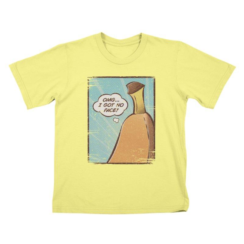 OMG... I GOT NO FACE! Kids T-shirt by Beanepod