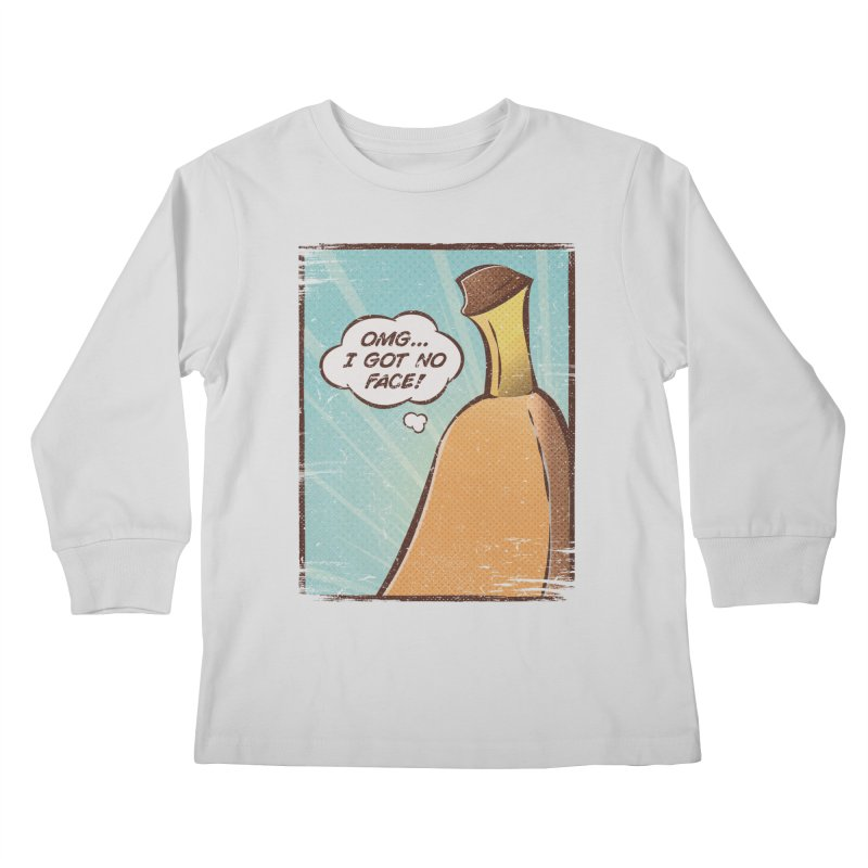 OMG... I GOT NO FACE! Kids Longsleeve T-Shirt by Beanepod