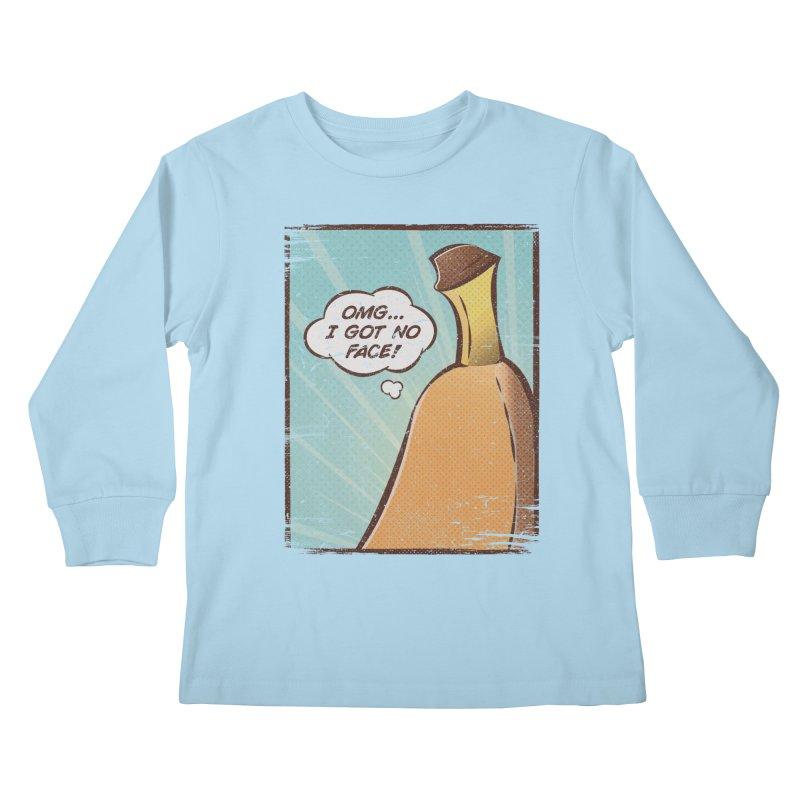 OMG... I GOT NO FACE! Kids Longsleeve T-Shirt by Beanepod