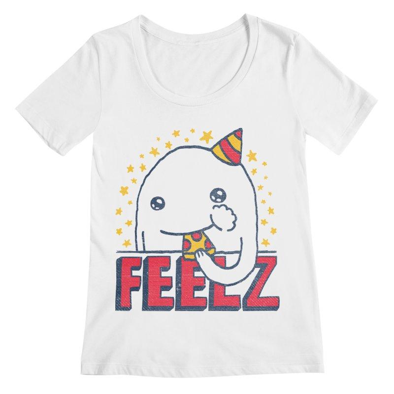 ALL OF THE FEELZ Women's Regular Scoop Neck by Beanepod
