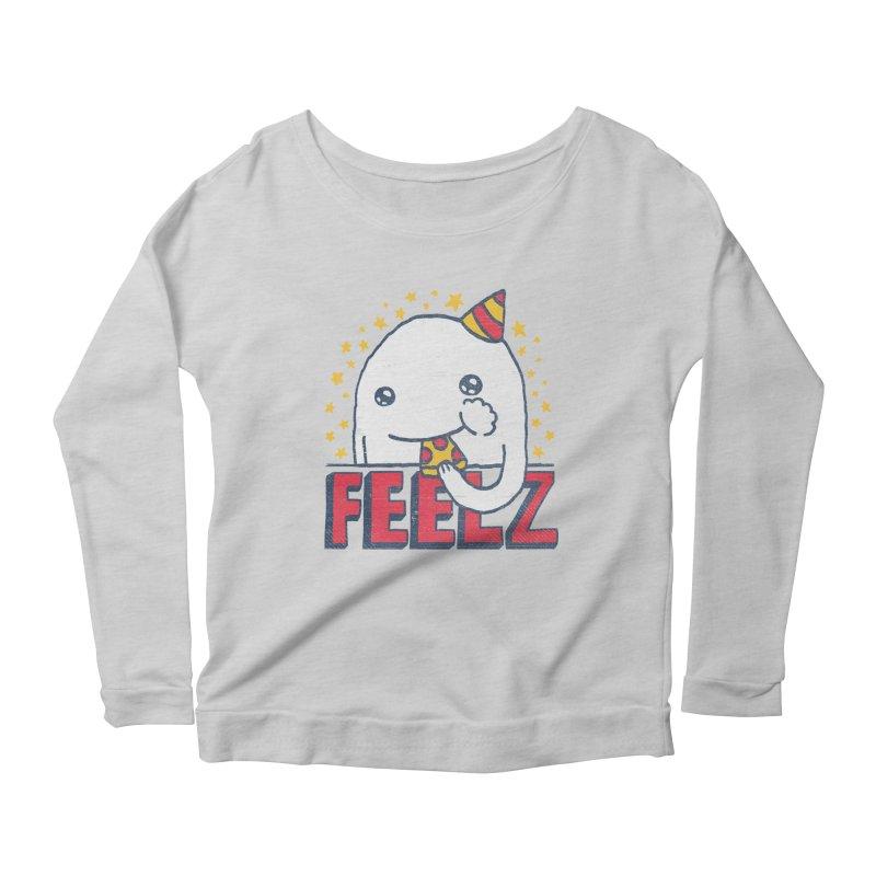 ALL OF THE FEELZ Women's Scoop Neck Longsleeve T-Shirt by Beanepod