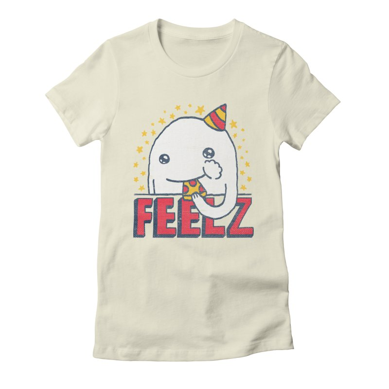 ALL OF THE FEELZ Women's Fitted T-Shirt by Beanepod