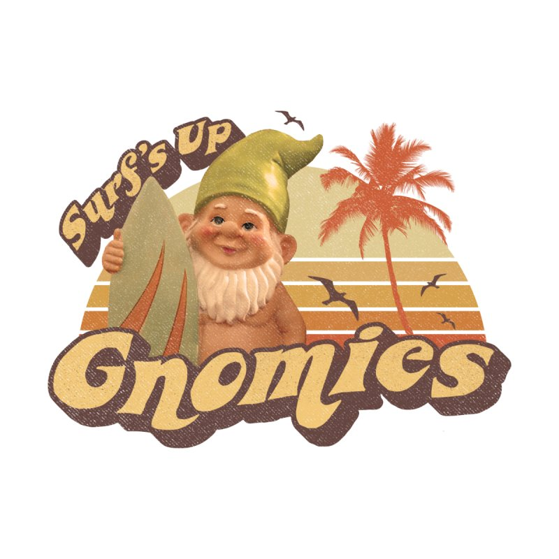 SURF'S UP GNOMIES Men's T-Shirt by Beanepod