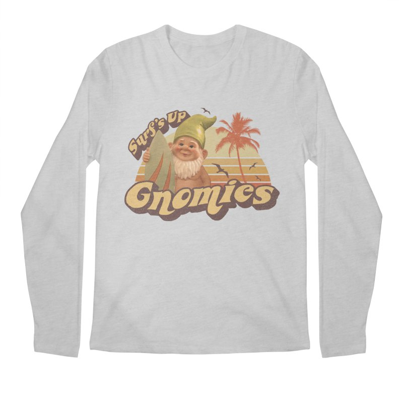 SURF'S UP GNOMIES Men's Longsleeve T-Shirt by Beanepod