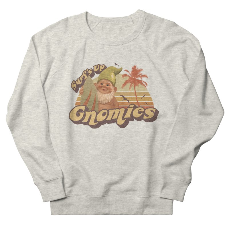 SURF'S UP GNOMIES Men's French Terry Sweatshirt by Beanepod