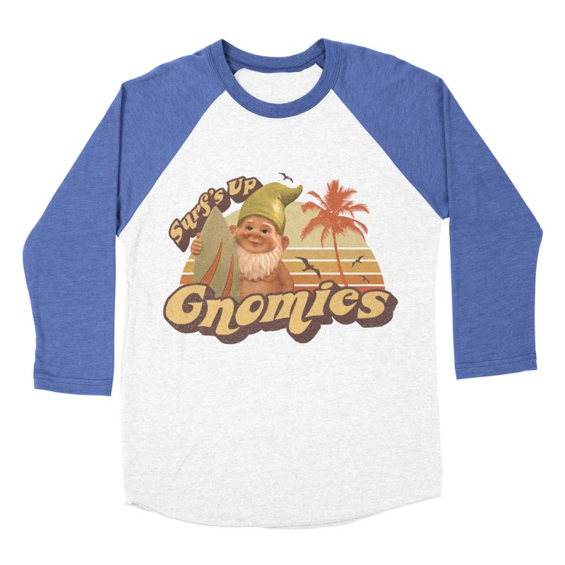 SURF'S UP GNOMIES Men's Baseball Triblend T-Shirt by Beanepod
