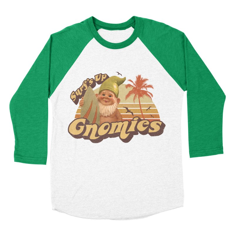 SURF'S UP GNOMIES Men's Baseball Triblend T-Shirt by Beanepod