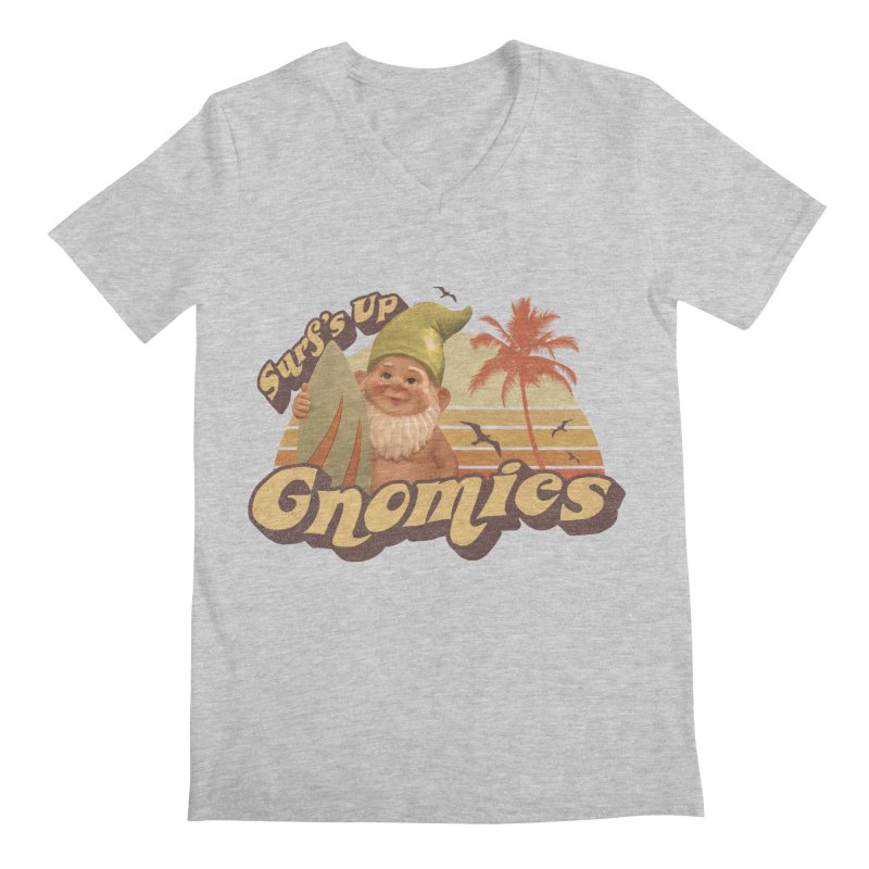 SURF'S UP GNOMIES Men's V-Neck by Beanepod