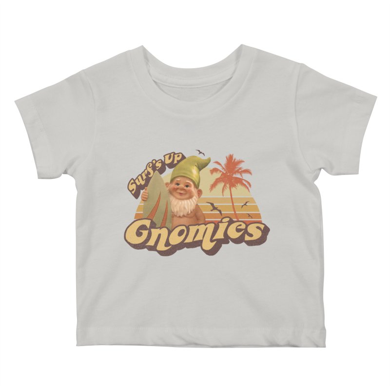 SURF'S UP GNOMIES Kids Baby T-Shirt by Beanepod