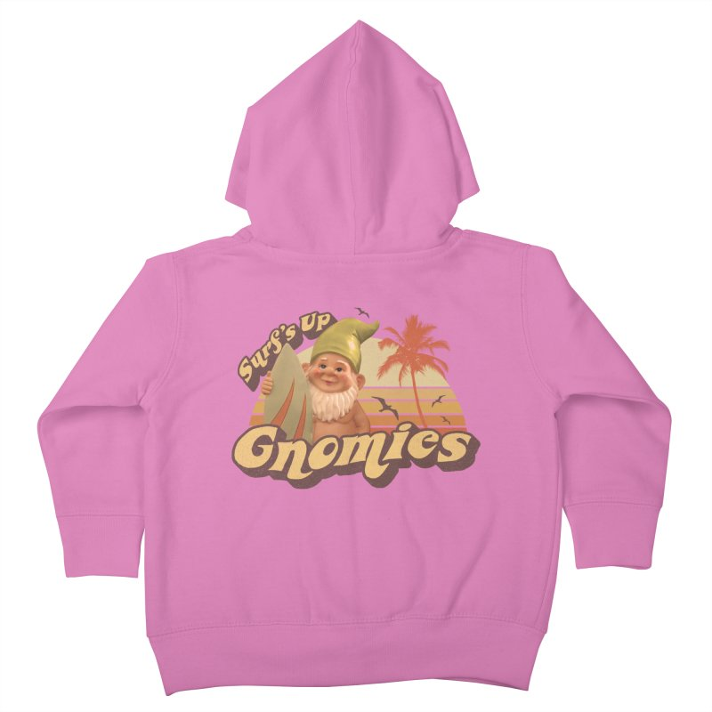 SURF'S UP GNOMIES Kids Toddler Zip-Up Hoody by Beanepod