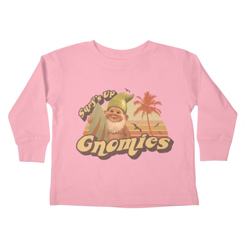 SURF'S UP GNOMIES Kids Toddler Longsleeve T-Shirt by Beanepod