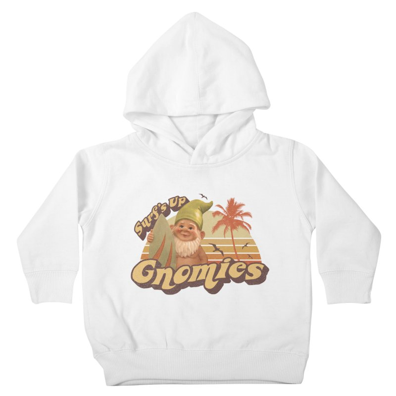 SURF'S UP GNOMIES Kids Toddler Pullover Hoody by Beanepod