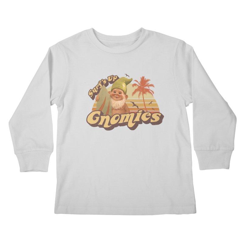 SURF'S UP GNOMIES Kids Longsleeve T-Shirt by Beanepod