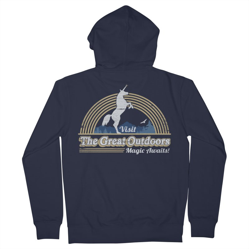 MAGIC AWAITS! Men's French Terry Zip-Up Hoody by Beanepod