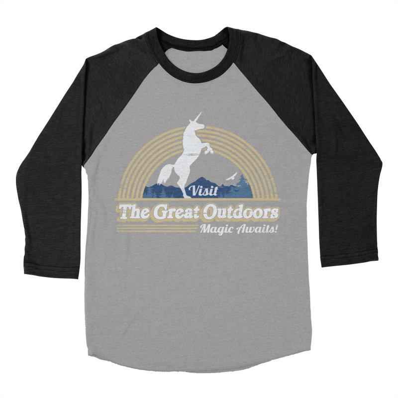MAGIC AWAITS! Men's Baseball Triblend T-Shirt by Beanepod
