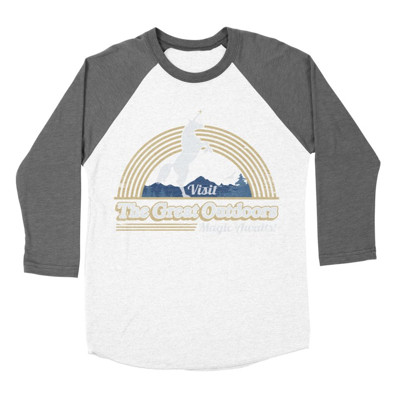 MAGIC AWAITS! Men's Baseball Triblend Longsleeve T-Shirt by Beanepod