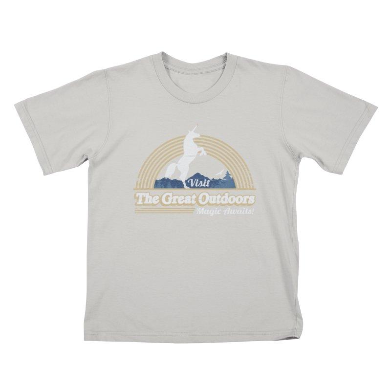 MAGIC AWAITS! Kids T-shirt by Beanepod