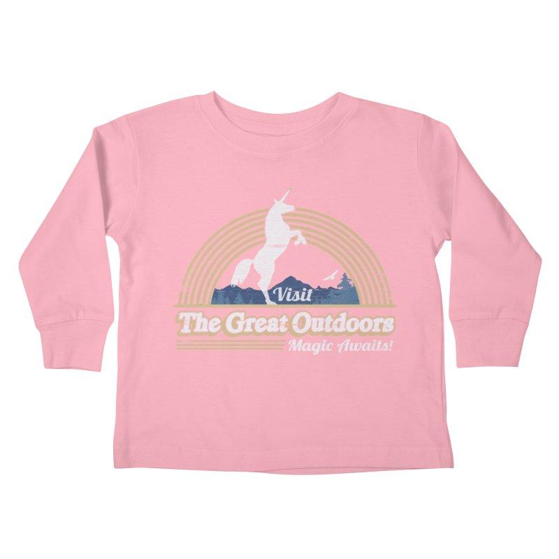 MAGIC AWAITS! Kids Toddler Longsleeve T-Shirt by Beanepod