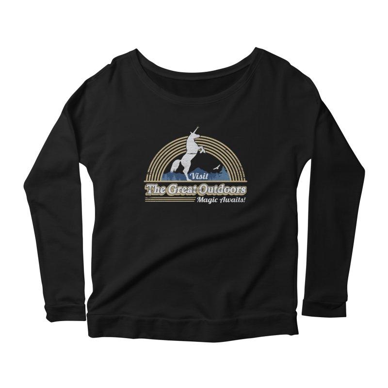 MAGIC AWAITS! Women's Scoop Neck Longsleeve T-Shirt by Beanepod