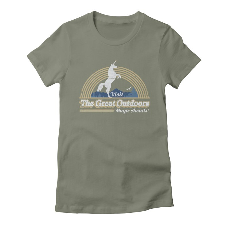 MAGIC AWAITS! Women's Fitted T-Shirt by Beanepod