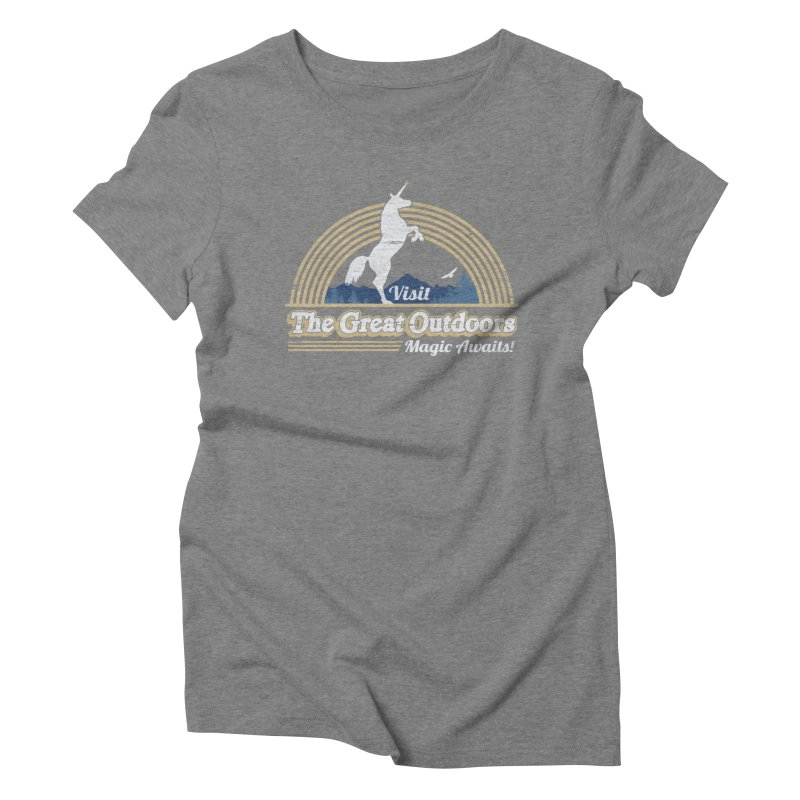 MAGIC AWAITS! Women's Triblend T-Shirt by Beanepod