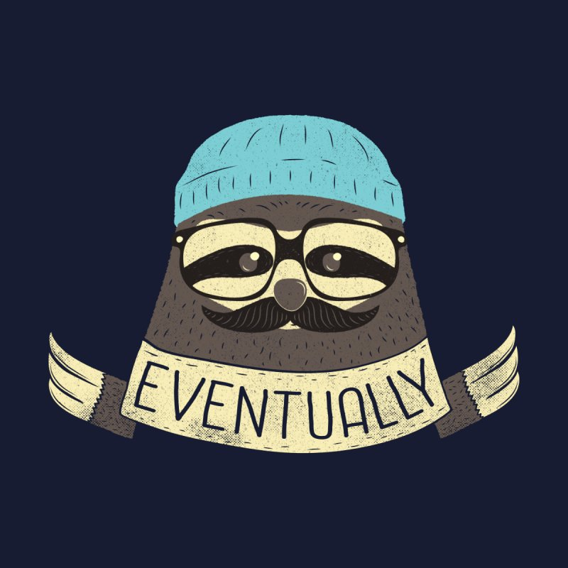 Hipster Sloth Takes His Time None  by Beanepod