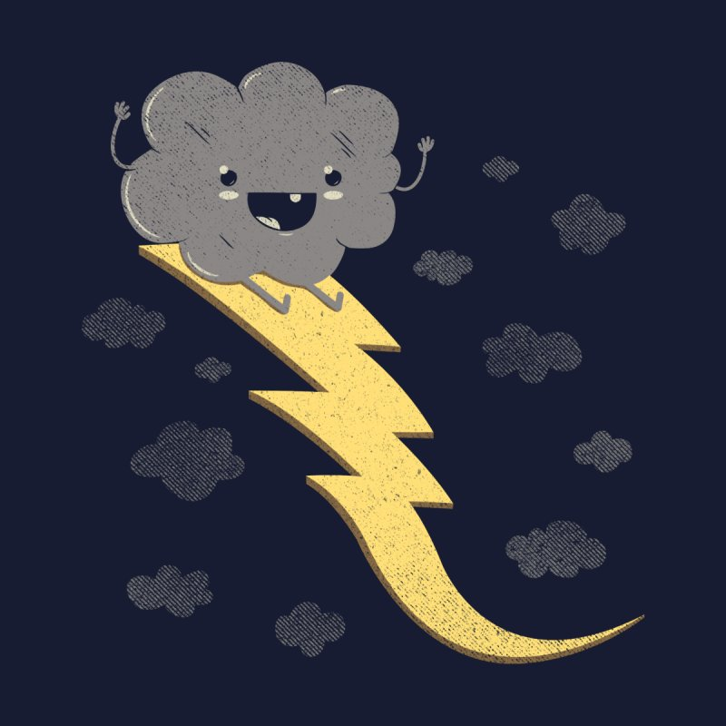 Ride the Lightning Men's T-shirt by Beanepod
