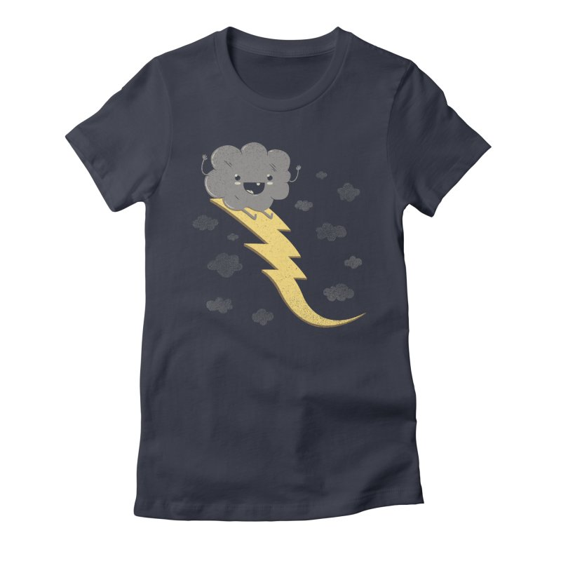 Ride the Lightning Women's Fitted T-Shirt by Beanepod