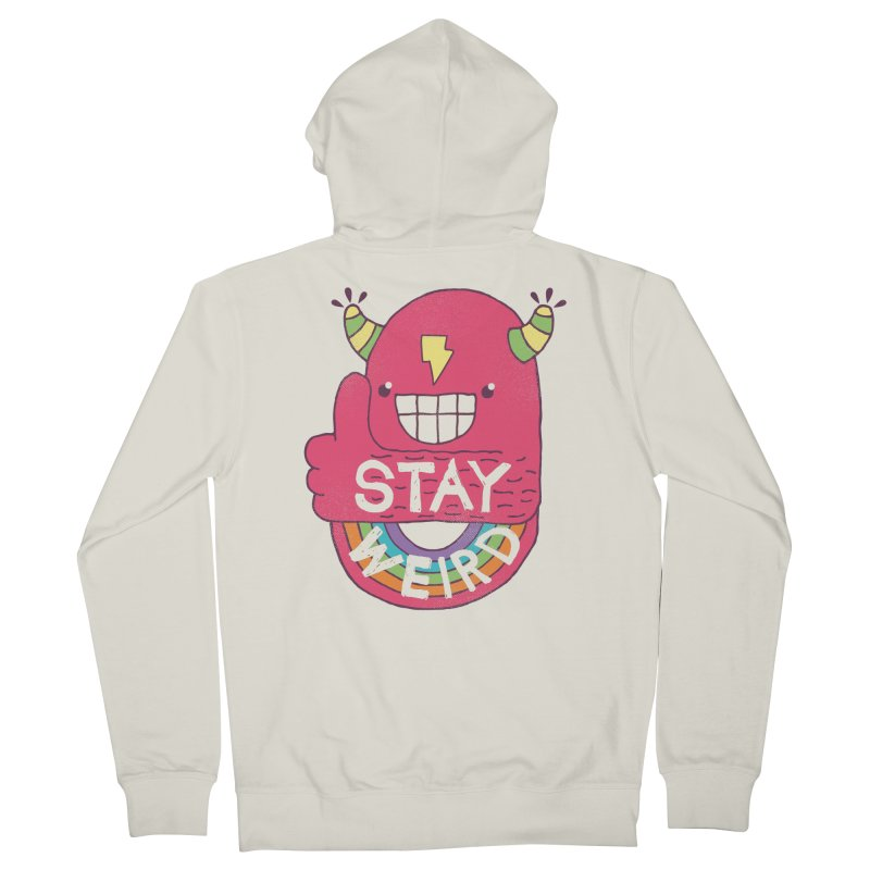 Stay Weird Men's French Terry Zip-Up Hoody by Beanepod