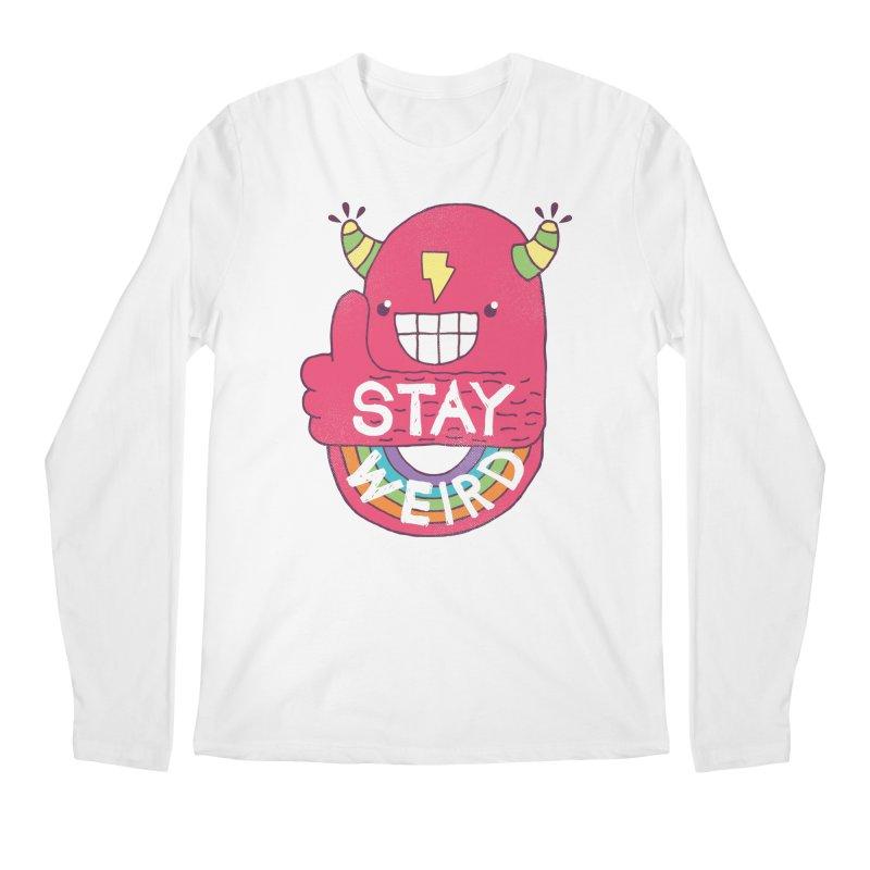 Stay Weird Men's Regular Longsleeve T-Shirt by Beanepod