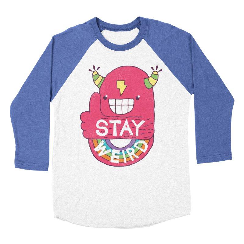 Stay Weird Men's Baseball Triblend T-Shirt by Beanepod