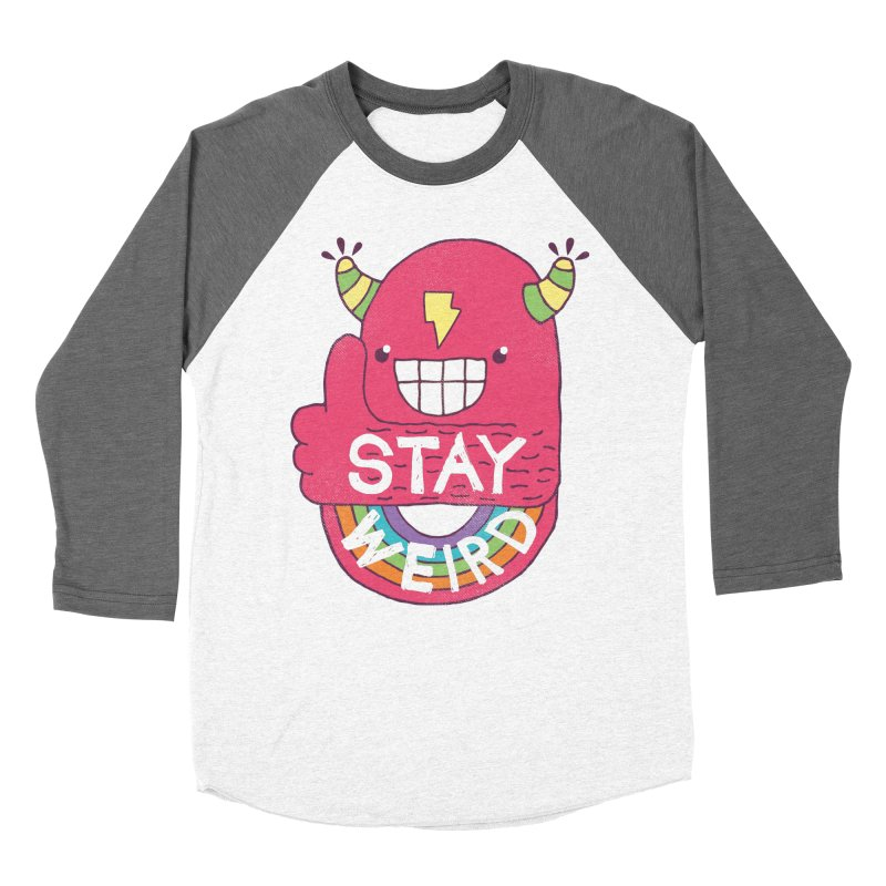 Stay Weird Men's Baseball Triblend Longsleeve T-Shirt by Beanepod