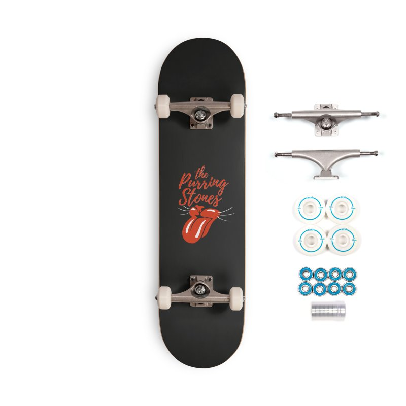 The Purring Stones Accessories Complete - Basic Skateboard by Beards and Cats Store