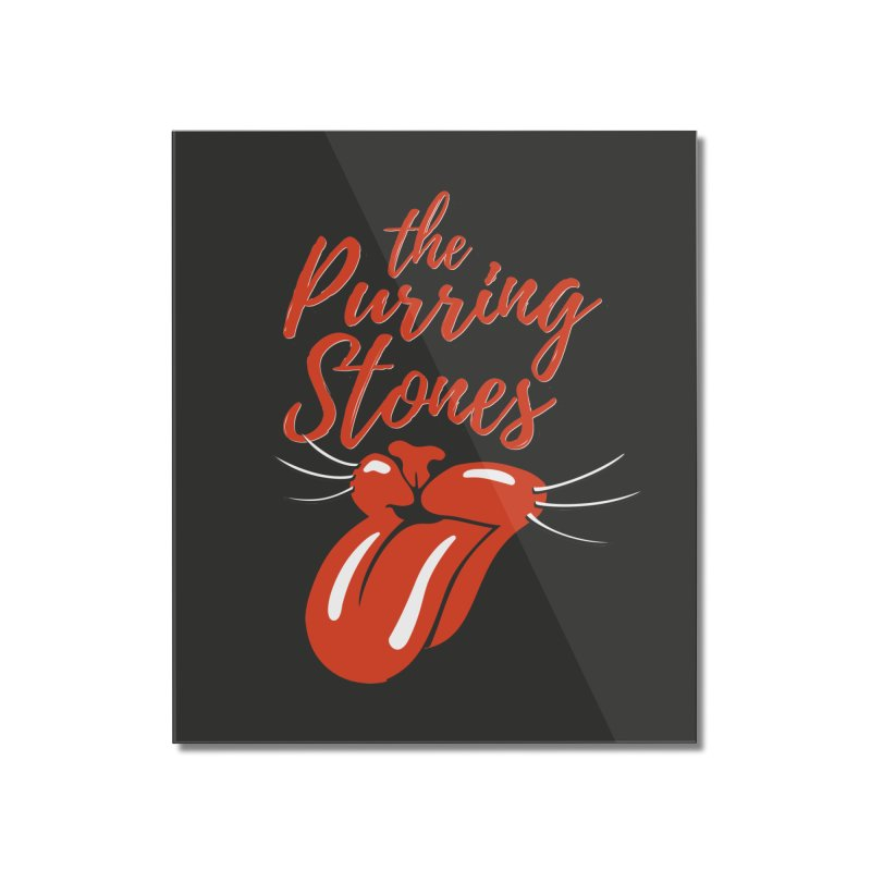 The Purring Stones Home Mounted Acrylic Print by Beards and Cats