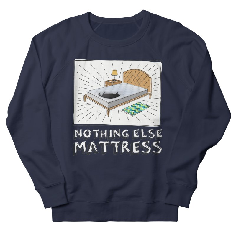 Nothing Else Mattress in Men's French Terry Sweatshirt Navy by Beards and Cats Store