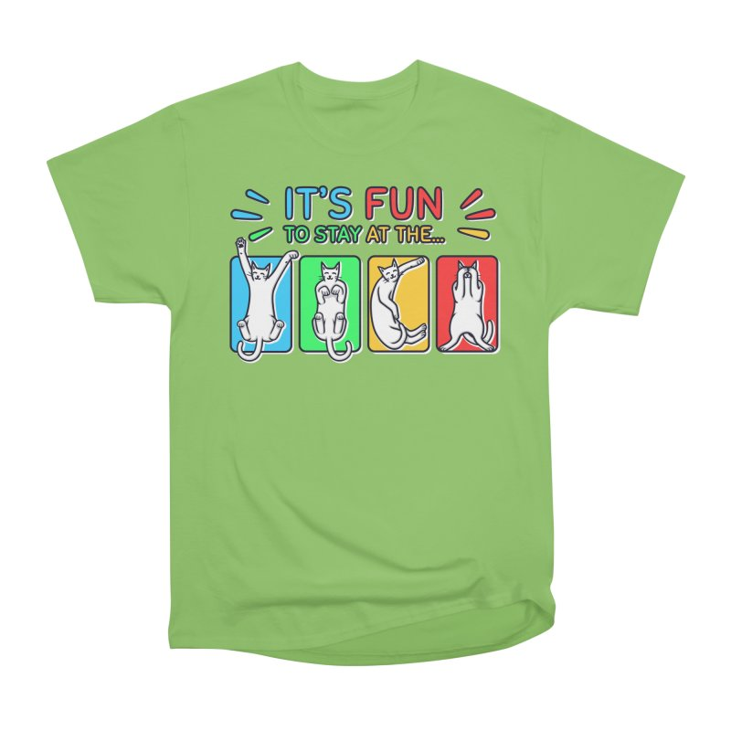 YMCA in Men's Heavyweight T-Shirt Kiwi by Beards and Cats Store