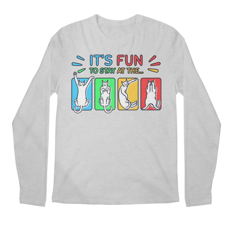 YMCA in Men's Regular Longsleeve T-Shirt Heather Grey by Beards and Cats Store