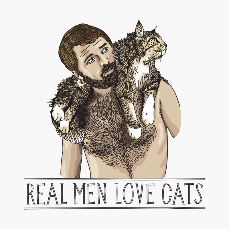 Real Men Love Cats by Beards and Cats Store