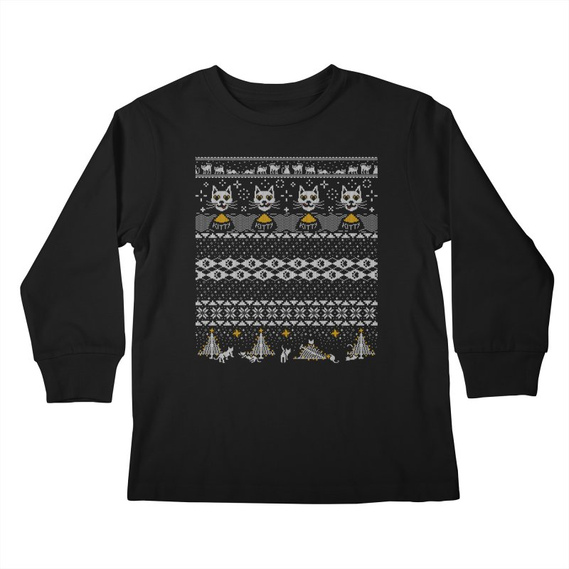 My Hardcore Cat Sweater Kids Longsleeve T-Shirt by Beards and Cats Store