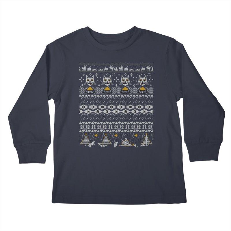 My Hardcore Cat Sweater Kids Longsleeve T-Shirt by Beards and Cats