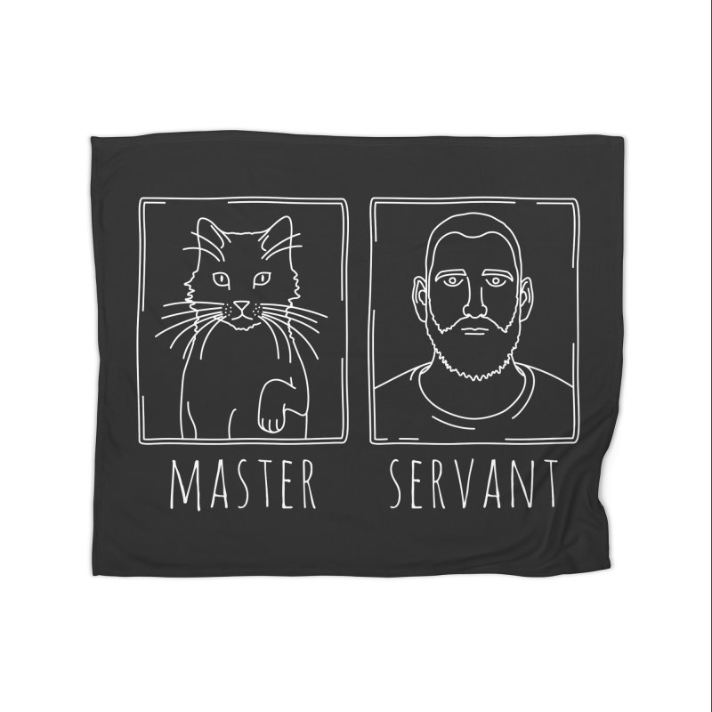 Master & Servant in Fleece Blanket Blanket by Beards and Cats Store