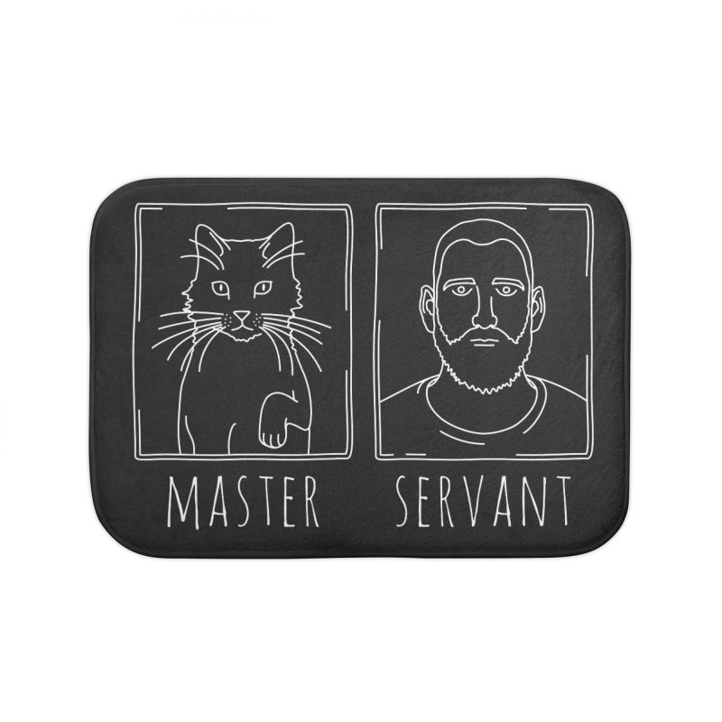 Master & Servant in Bath Mat by Beards and Cats Store