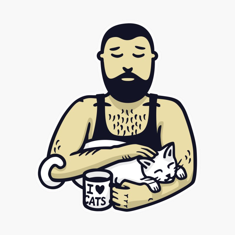 Cat Daddy: Story of My Life (no text) by Beards and Cats Store