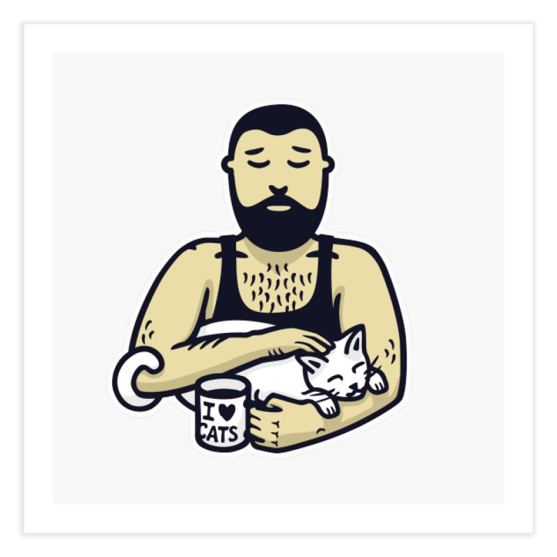 Cat Daddy: Story of My Life (no text) Home Fine Art Print by Beards and Cats Store