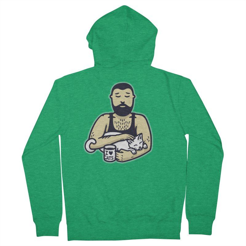Cat Daddy: Story of My Life (no text) Men's French Terry Zip-Up Hoody by Beards and Cats Store