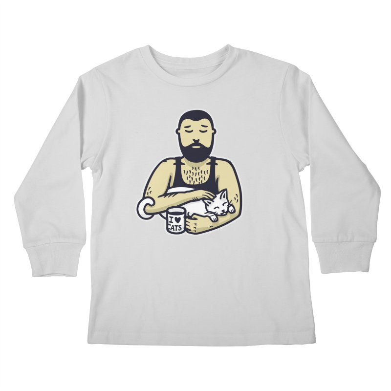 Cat Daddy: Story of My Life (no text) Kids Longsleeve T-Shirt by Beards and Cats Store