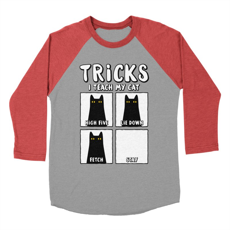 Tricks in Men's Baseball Triblend Longsleeve T-Shirt Chili Red Sleeves by Beards and Cats Store