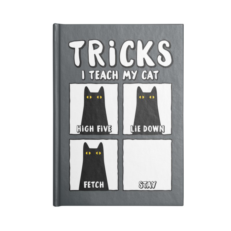 Tricks Accessories Blank Journal Notebook by Beards and Cats Store